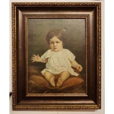 """TABLOU, GEORGE DEMETRESCU MIREA """"COPIL"""", U/P, 1903"""