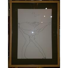 """HENRY MAVRODIN """"NUD II"""", Litografie, 1988"""
