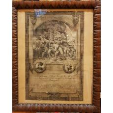 """DOCUMENT-AFIS """"PATRIA RECUNOSCATOARE"""", MARASESTI (1916-1919), Grafica Executata de Pictorul D. STOICA"""