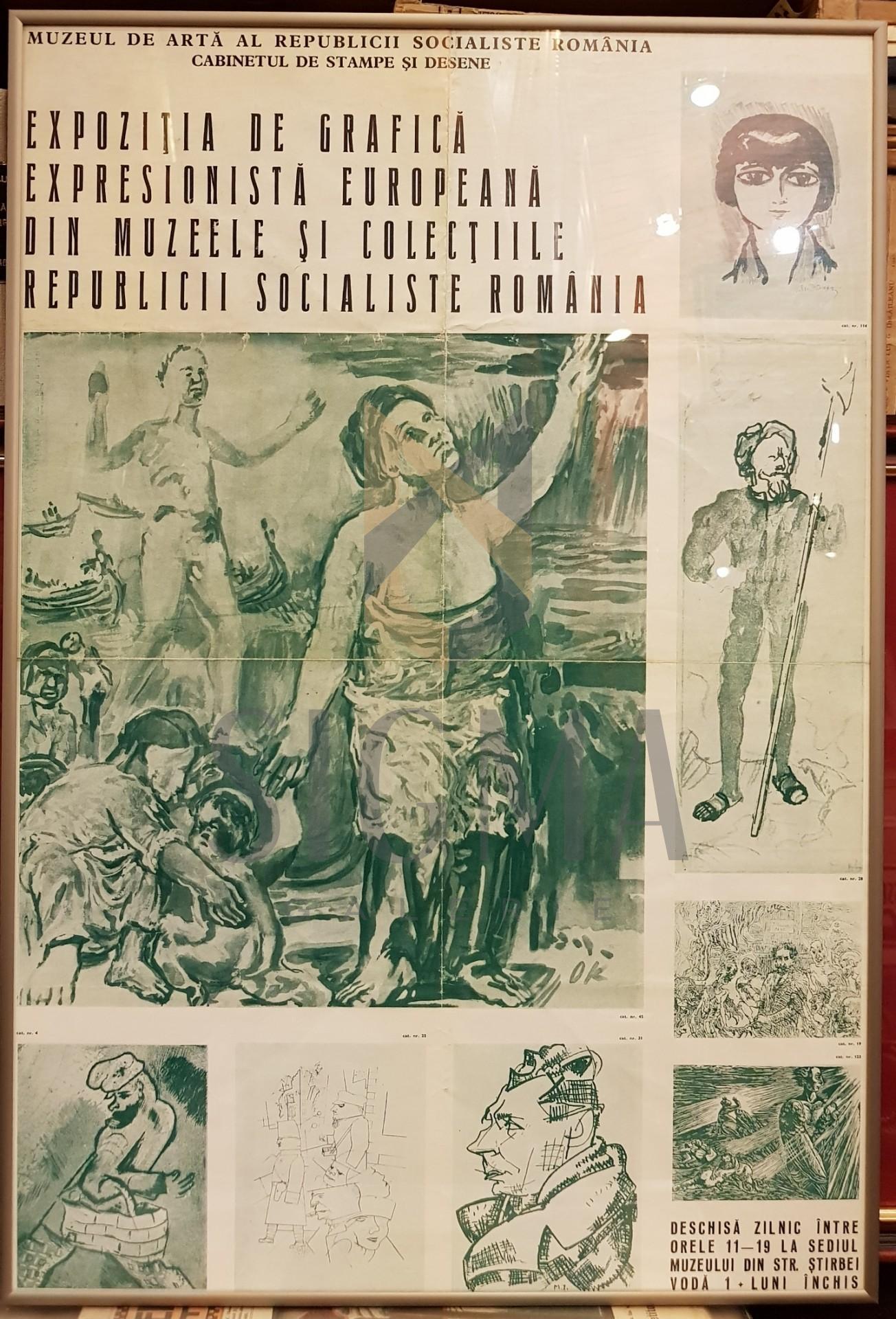 AFIS, EXPOZITIA DE GRAFICA SI SCULPTURA EXPRESIONISTA EUROPEANA DIN MUZEELE SI COLECTIILE REPUBLICII SOCIALISTE ROMANIA, Inceputul Anilor '70, Bucuresti