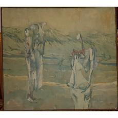 TABLOU, RAZVAN NEICU, PERSONAJE FANTASTICE - ALEGORIE , UP, 1990