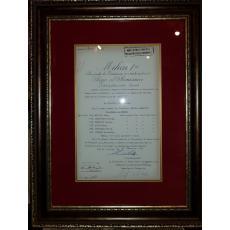 """REGELE """"MIHAI I"""" si """"MIHAI ANTONESCU"""" (Ministrul Afacerilor Straine), Document de Cancelarie, Sinaia, 25 Noiembrie 1943 (Semnaturi In Original !)"""