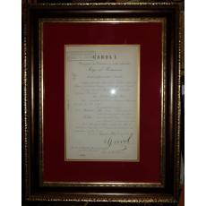 """REGELE """"CAROL I"""" si """"ION I. C. BRATIANU"""" (Ministrul Afacerilor Straine), Document de Cancelarie, Peles, 30 Iulie 1907 (Semnaturi In Original !)"""