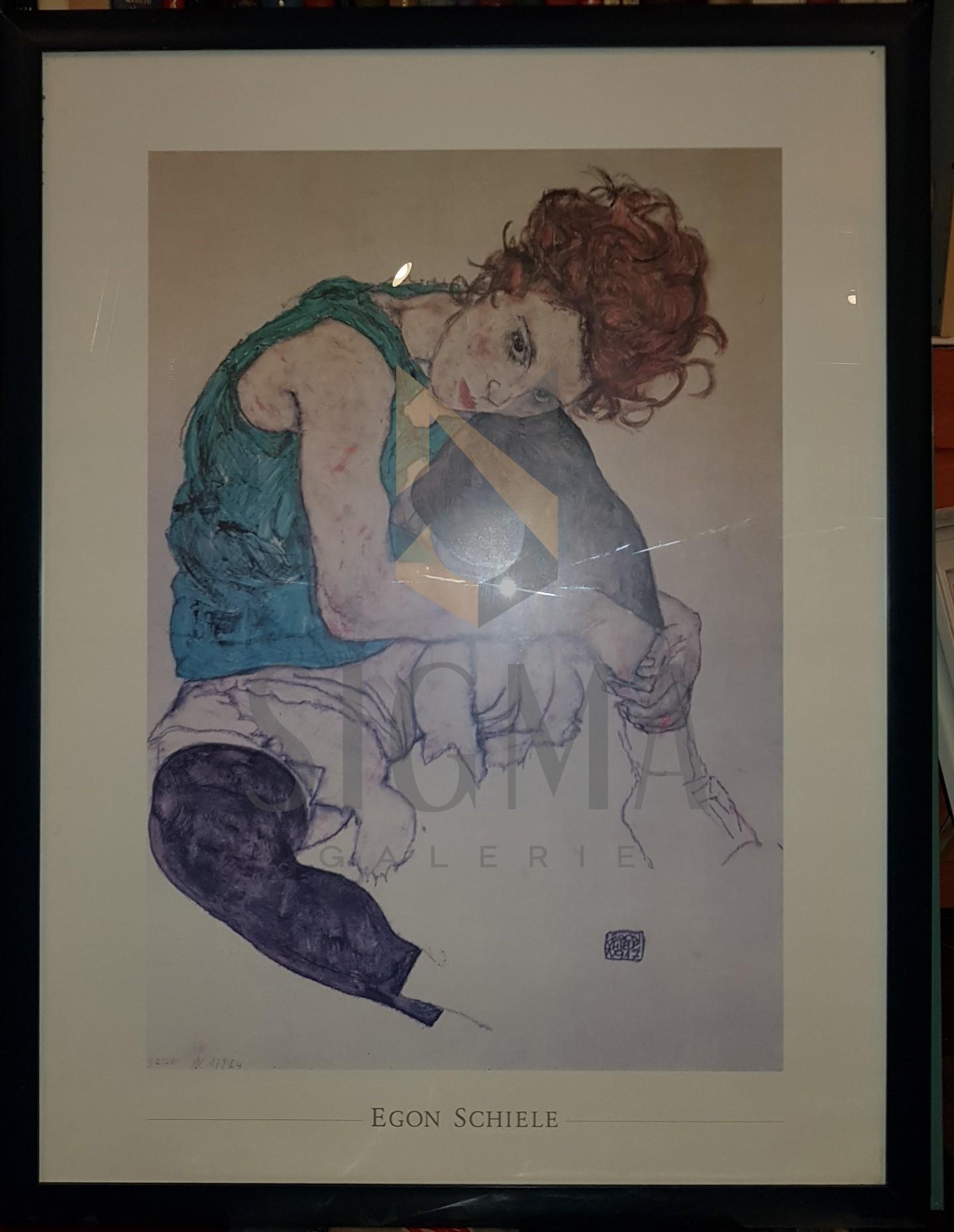 AFIS EGON SCHIELE, SOTIA ARTISTULUI, 85 CM X 65 CM