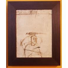"""TABLOU, SORIN ILFOVEANU """"MESAGER"""", U/P, Dimensiuni: 46,5cm. x 35,5cm., Datat: 1995"""