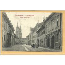 "CARTE POSTALA ""SIBIU-STRADA MACELARILOR"", 1910, Alb/Negru, Circulata!"