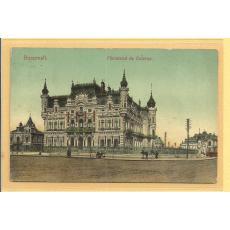 """CARTE POSTALA """"BUCURESTI-MINISTERUL DE EXTERNE"""", 1908, Color, Circulata!"""