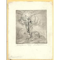M. MANOLESCU, EMINESCU LUCEAFARUL, EX. 4/10 , gravura