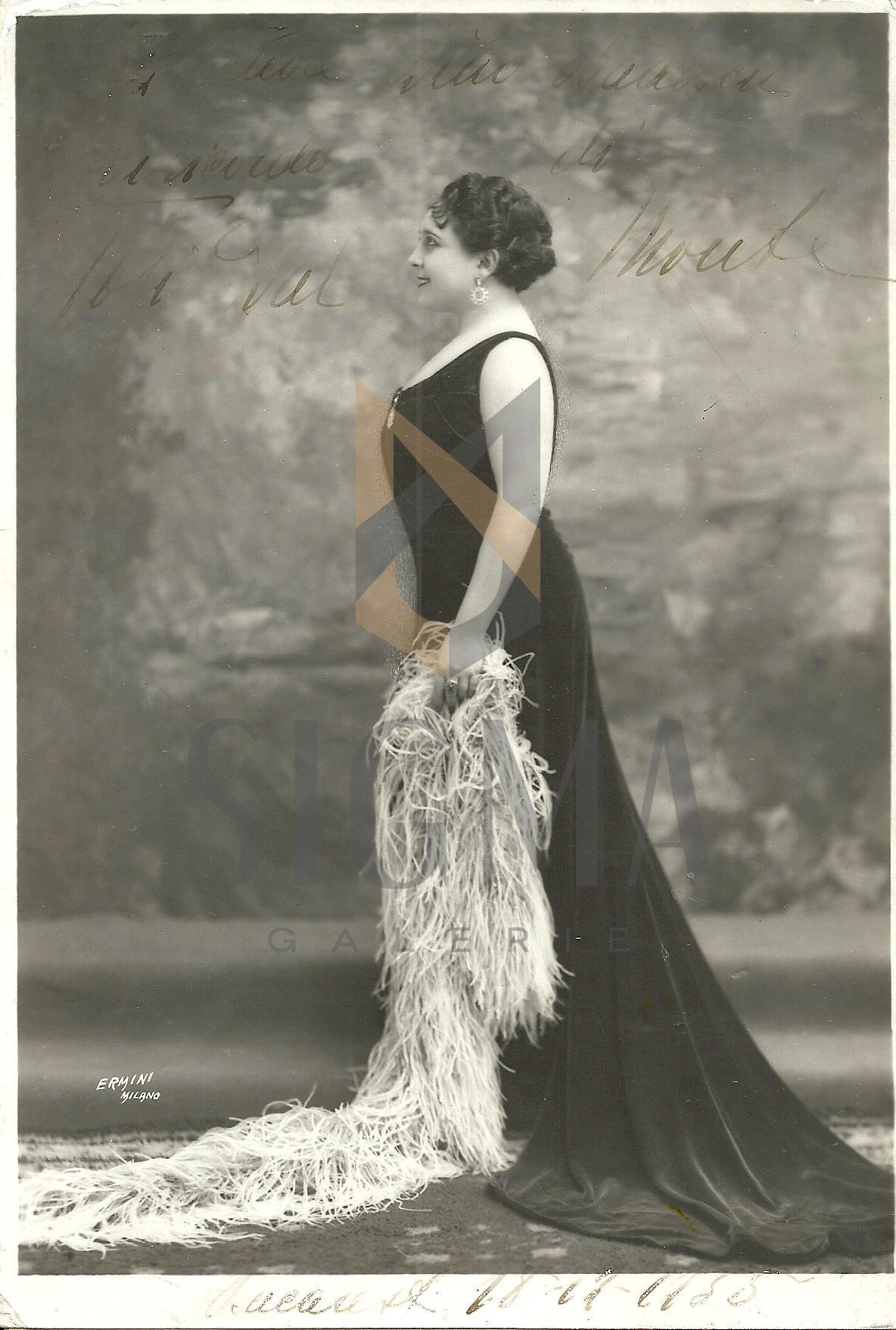 FOTOGRAFIE, SOPRANA  TOTI DAL MONTE ( Antonietta Meneghel ) DEDICATIE, 1935