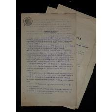 LOT DOCUMENTE, CONTRACT DE EDITURA NICOLAE CARTOJAN si A. RADULESCU-POGONEANU (Profesori Universitari), 1929-1936, Craiova