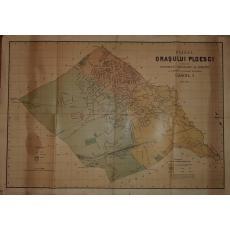 PLANUL ORASULUI PLOESCI (PLOIESTI), Lucrat de Institutul Geografic al Armatei, 1902-1904