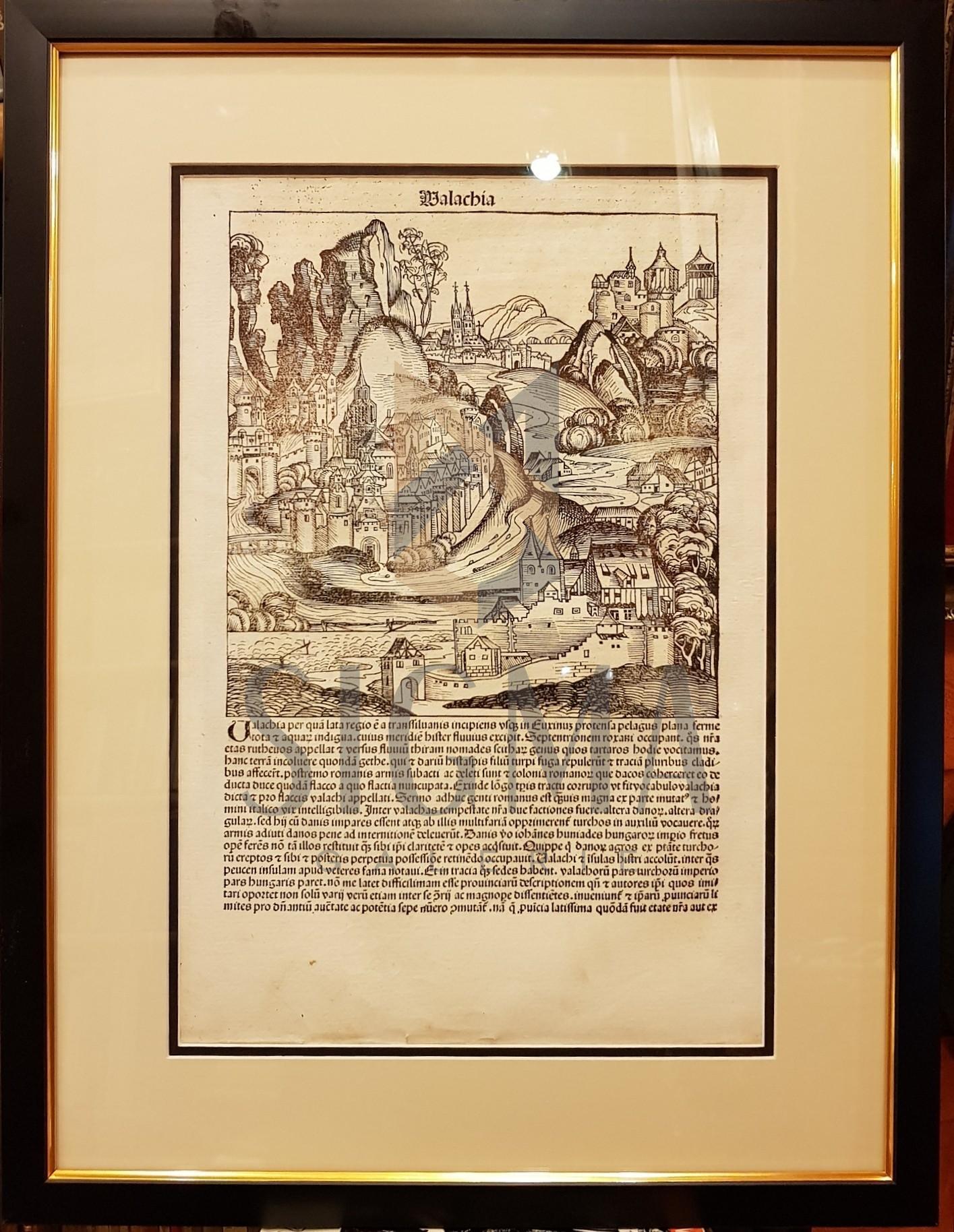 HARTMANN SCHEDEL (Cartograf, Nascut 1440 - Decedat 1514), ANTON KOBERGER (Editor)