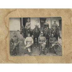FOTOGRAFIE DIN PRIMUL RAZBOI MONDIAL, OFITERI, SOLDATI , CAVALERIE ROMANA