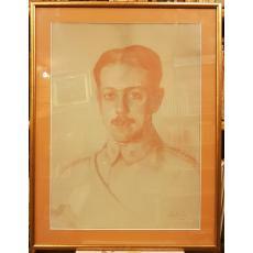 TABLOU, PETRE BULGARAS, AUTOPORTRET -  IN PRIMUL RAZBOI MONDIAL, pastel, 1917