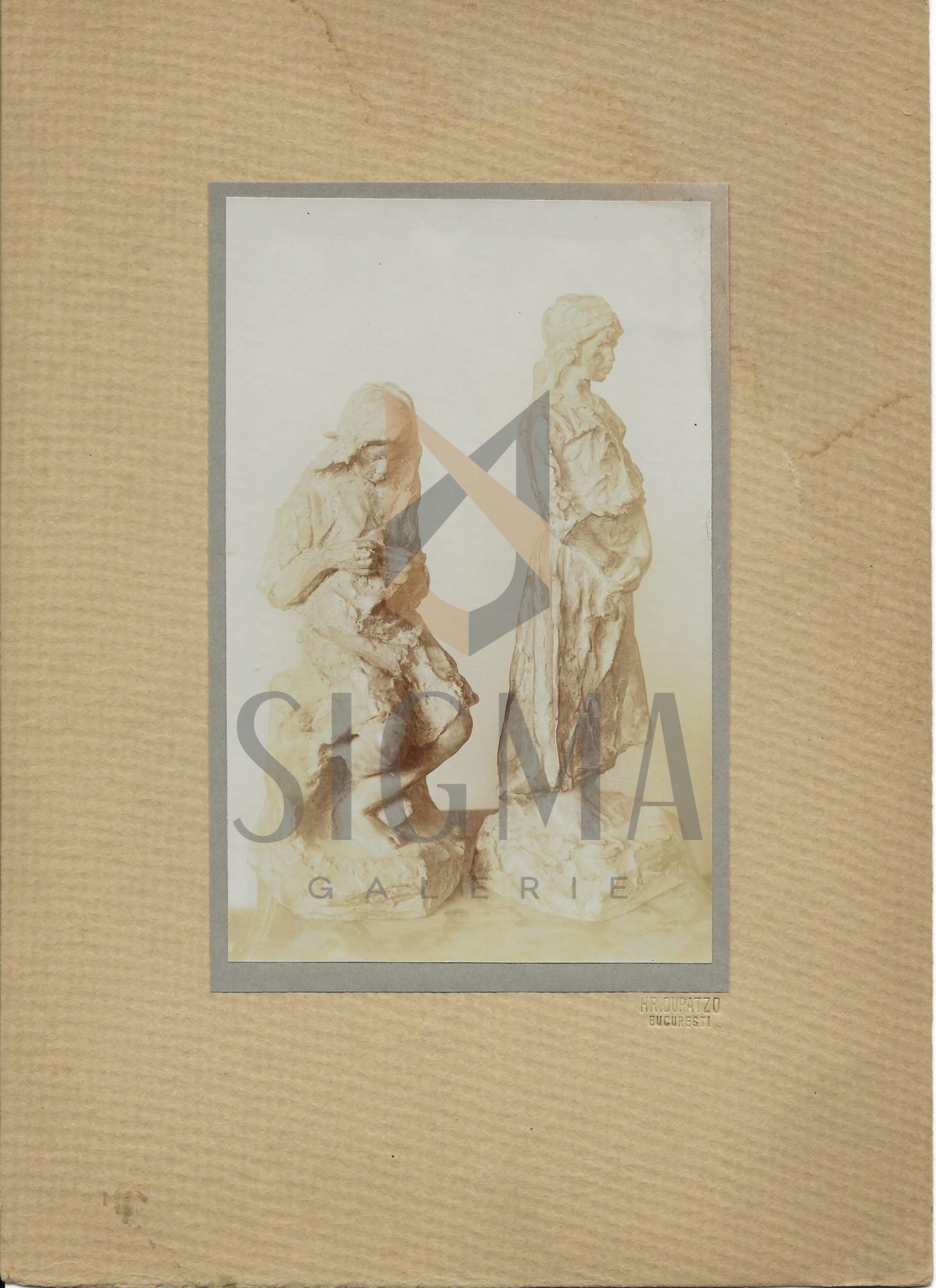 FOTOGRAFIE ORIGINALA, SCULPTURA  OSCAR HAN - TARANCE  ( REVISTA LUCEAFARUL) 1919