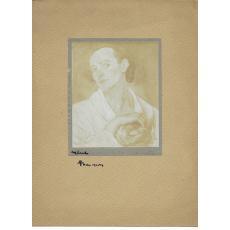 FOTOGRAFIE ORIGINALA, TABLOU TEODORESCU - SION  - MARUL  ( REVISTA LUCEAFARUL) 1919