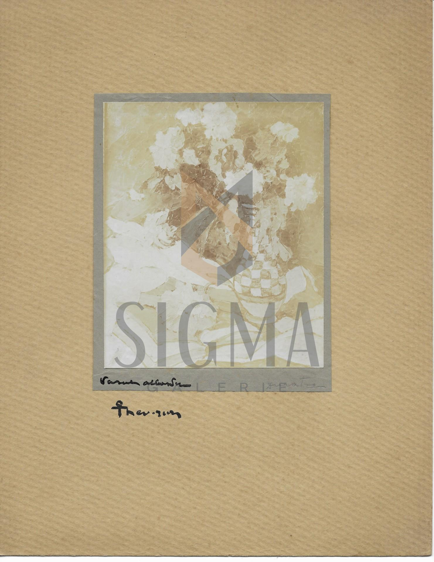 FOTOGRAFIE ORIGINALA, TABLOU TEODORESCU - SION  -FLORI   ( REVISTA LUCEAFARUL) 1919