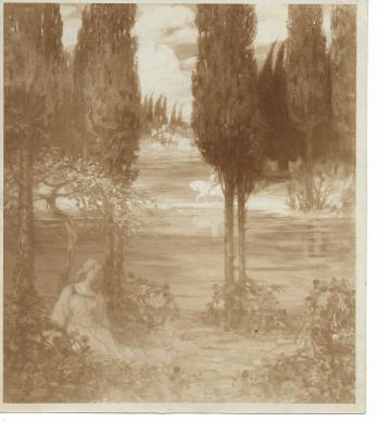 FOTOGRAFIE ORIGINALA, TABLOU KIMON LOGHI - DIN LUMEA BASMELOR  ( REVISTA LUCEAFARUL) 1914