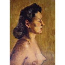 Tablou, Otto Briese, Maria Briese  ulei pe carton, 42 x 30 cm datat 1944 , semnat dreapta jos Briese