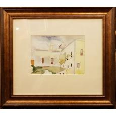 "TABLOU, CATARGI HENRI H. ""PEISAJ MEDITERANEAN"", Acuarela, 1931"