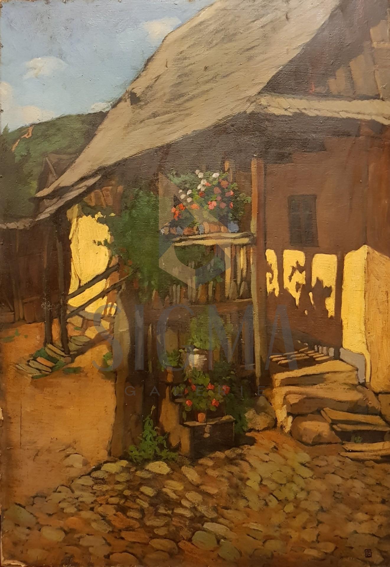 TABLOU, LITTECZKY ENDRE ANDREI ( 1880 - 1953 ) , PRISPA CU FLORI, Scoala de Baia Mare, U/C