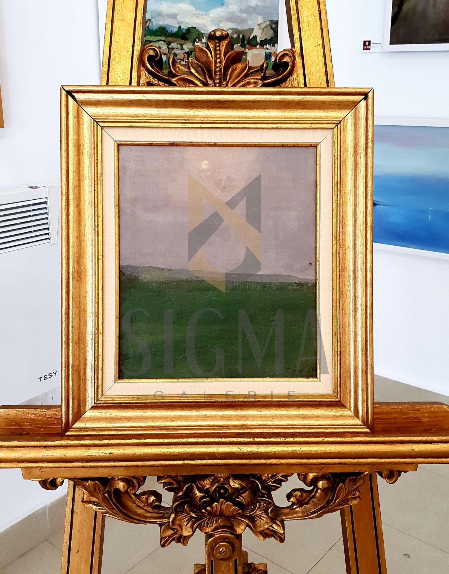 "Tablou OTTO BRIESE ""Peisaj""  ulei pe carton, 28.5 x 24.5 cm datat 1932, semnat dreapta jos Briese"