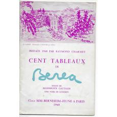 "DIMITRIE BEREA, CATALOG "" CENT TABLEUX ""  DESEN ORIGINAL , 1960"