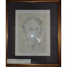"Tablou, Nicolae Popa,  ""Portretul lui Otto Briese""  creion pe hartie, 1945"