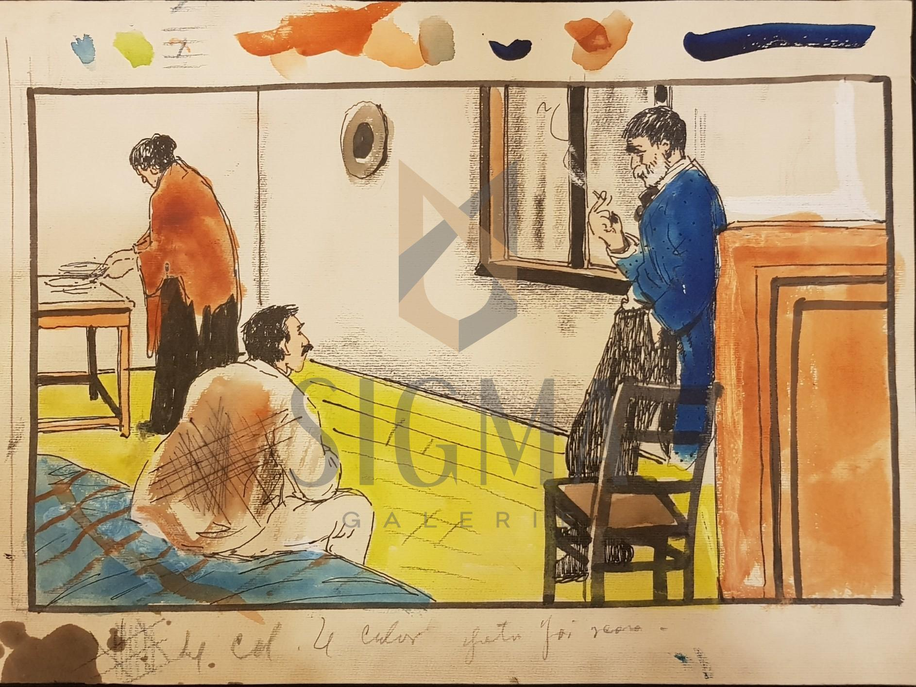 "B'ARG ( Ion Barbulescu ) , "" TAIFASUL"" grafica pt Ziarul  DIMINEATA , 1933"