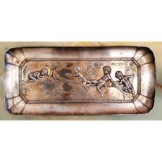 Tava, alpaca argintata, marcata WMF, 20,5x45 cm