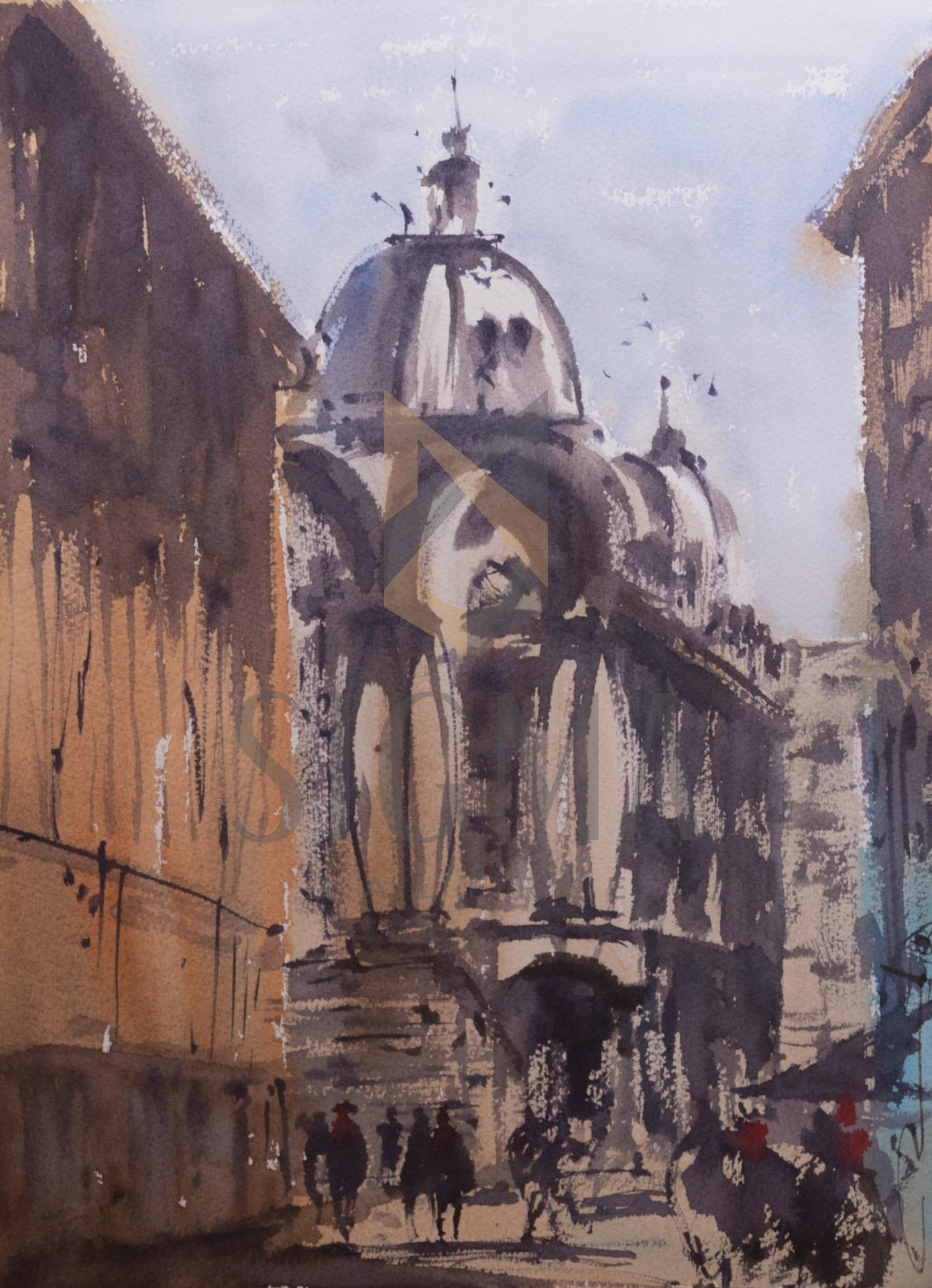 Tablou, Vasile Zastavnitchi, - NF. Palace Hotel, acuarela, 38x28,5 cm