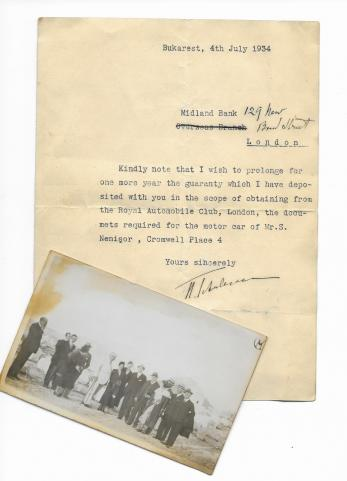 DOCUMENT / SCRISOARE, NICOLAE TITULESCU,  ( semnatura olografa ) + FOTOGRAFIE, 1934
