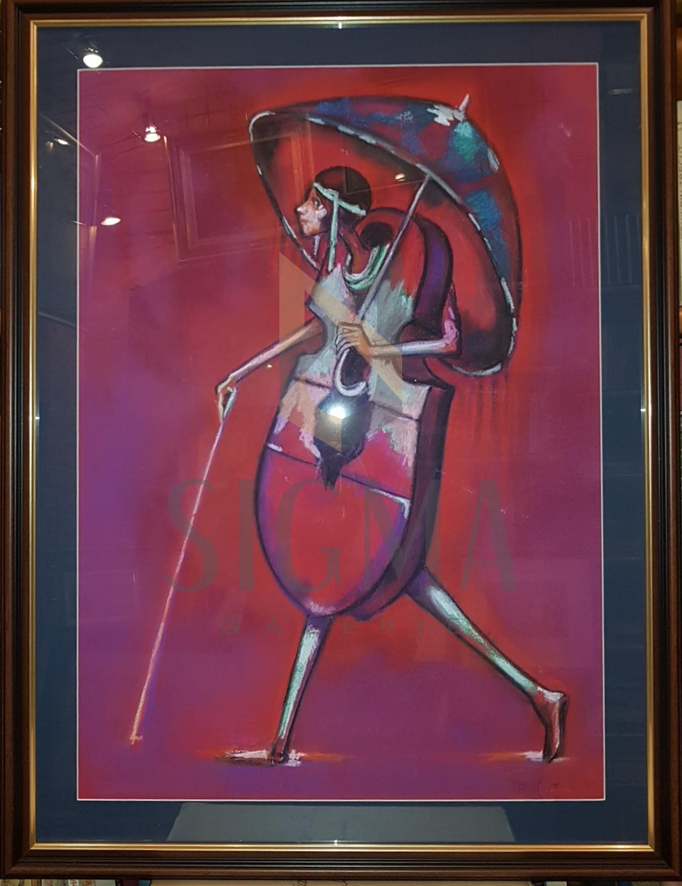 """TABLOU, ION IANCUT, """" FIUL RISIPITOR"""" , pastel ( 70 cm x 50 cm )"""