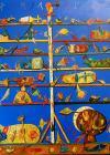 Tablou, Stefan Pelmus, Pomul vietii, ulei pe panza, dim: 80x80 cm