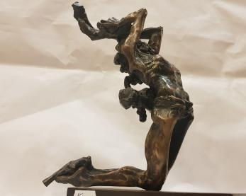 """SCULPTURA, ION MANDRESCU, """" MURIM SPRE A NE NASTE """" , bronz"""