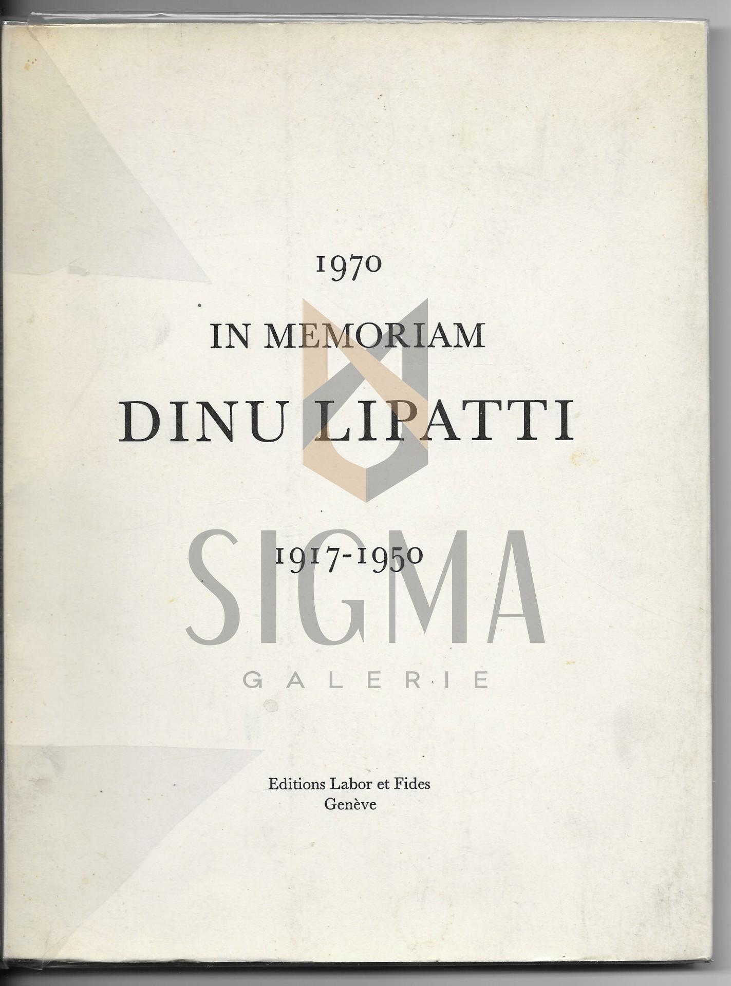 """1970 IN MEMORIAM """" DINU LIPATTI """" - 1917-1950"""