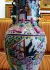 Vas decorativ chinezesc, din portelan, H 63 cm,