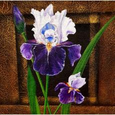 Tablou, Anda Simionescu Varga, - Iris - ulei pe panza, 38 x36 cm
