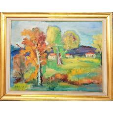 Tablou, Dan Bajenaru, - Peisaj - ulei pe panza, 49 x 64 cm, semnat stanga jos - D. Bajeneru