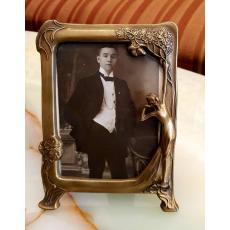 Rama foto, bron,  stil Art Nouveau, H17 cm x 12 cm