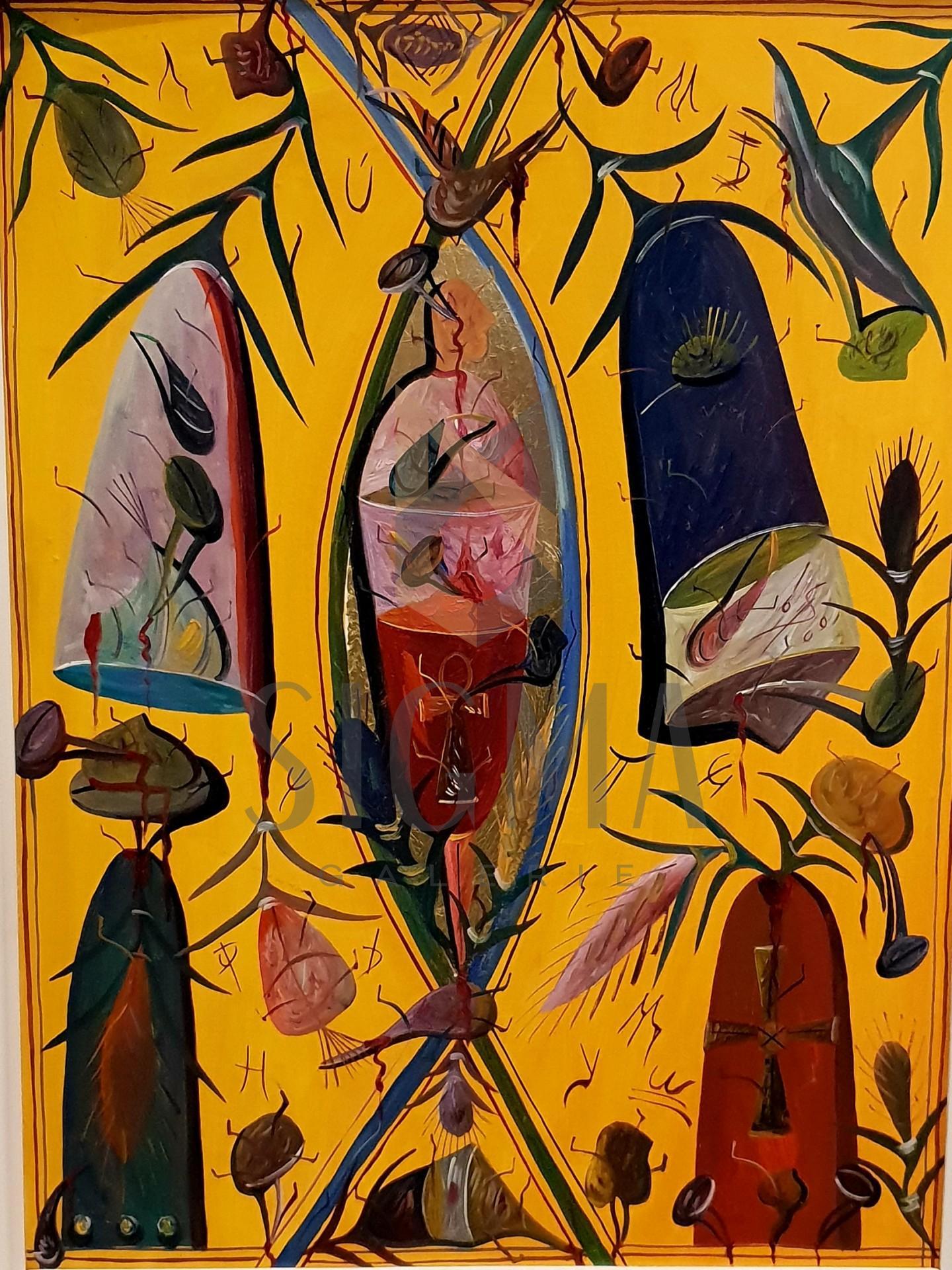 "TABLOU, STEFAN PELMUS "" LIMB "" , U/C, 2000"