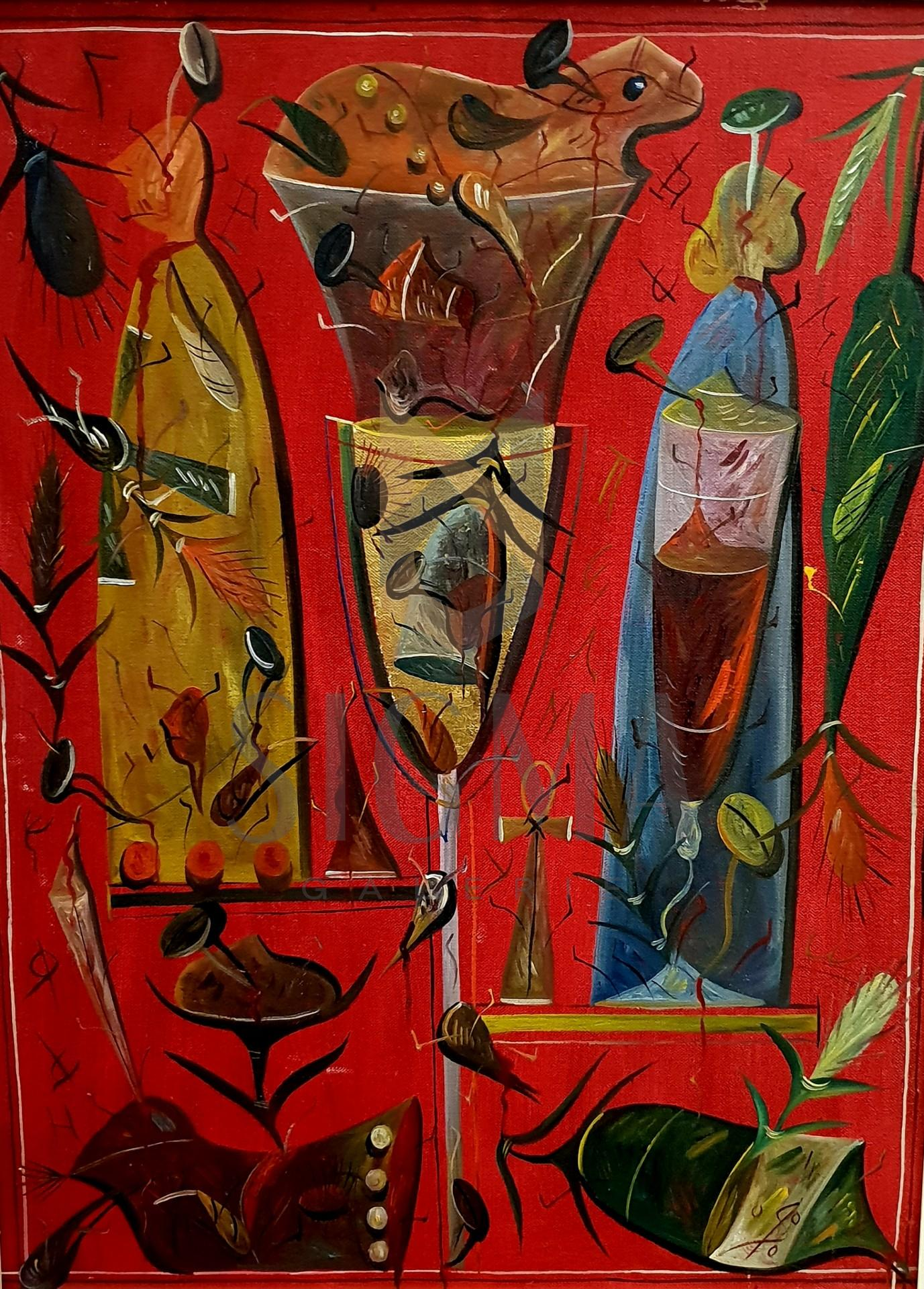 """TABLOU, STEFAN  PELMUS """" GRAAL """" , U/C , 2000"""