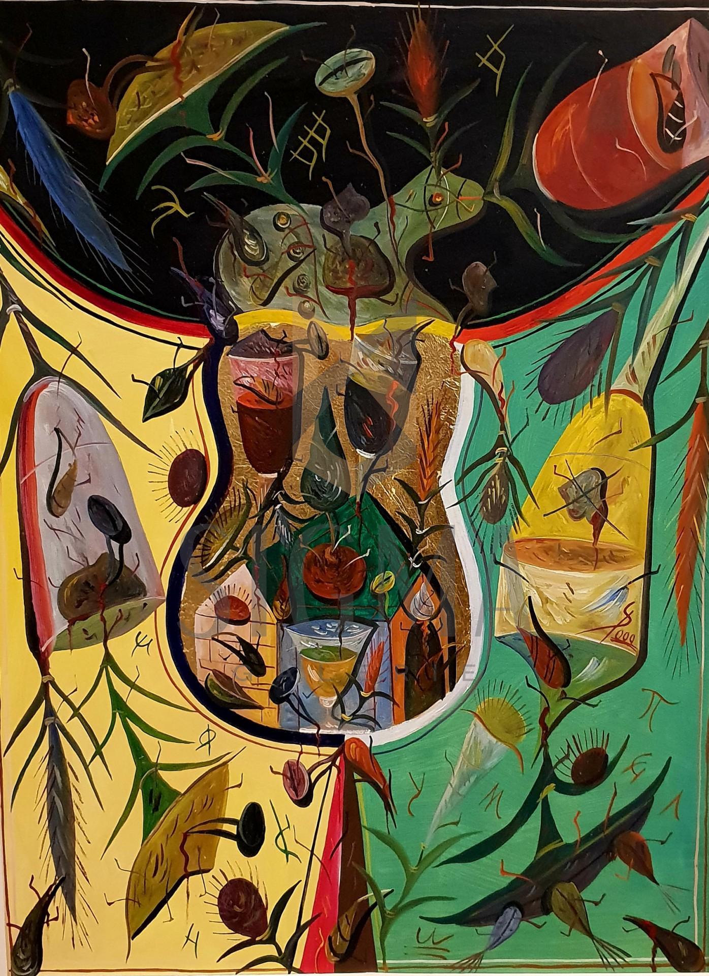 "TABLOU, STEFAN PELMUS, "" EVA "" , U/C , 2000"