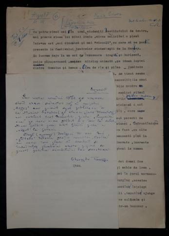 "MARIN SORESCU  "" LUPOAICA MEA "" MANUSCRIS ORIGINAL "" 1971"