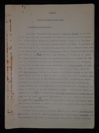 """NAE ANTONESCU, """" CERCUL LITERAR DE LA SIBIU """" - STUDII - ARTICOL PENTRU REVISTA ARGES"""