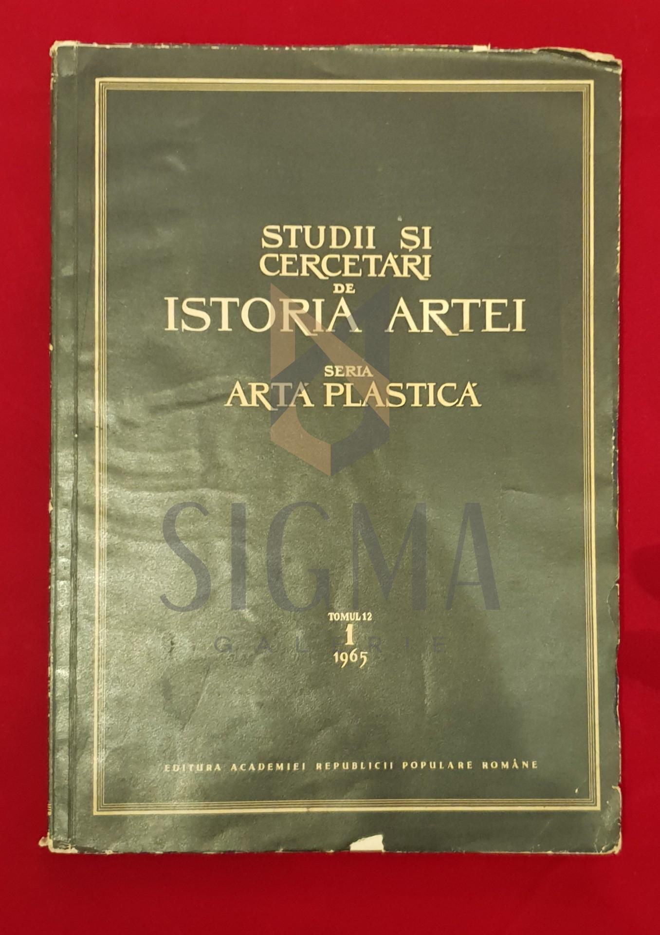 Studii si cercetari de Istoria Artei, Seria Artă Plastică