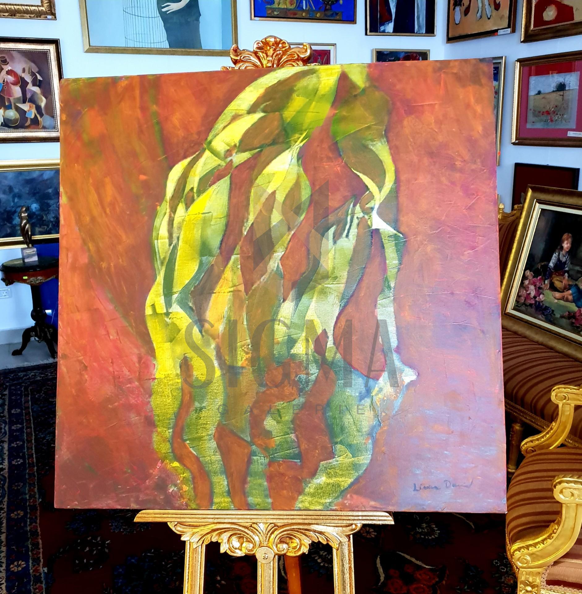 """Tablou, """" Unduiri armonice """" autor: Liviu David, ulei pe panza, dim: 84 x 84 cm"""