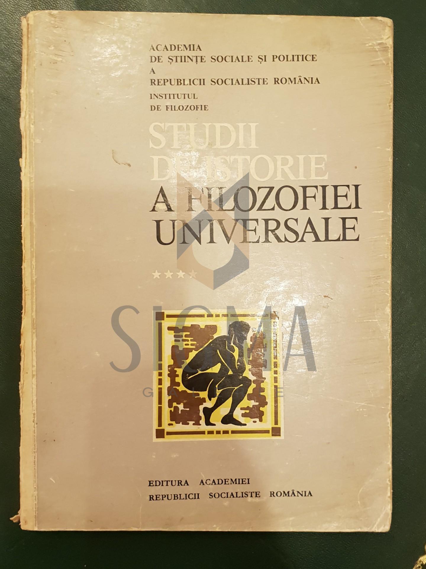 Studii de istorie a filozofiei universale, vol.  IV