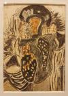 """TABLOU, ION ALIN GHEORGHIU, """" COMPOZITIE """" , tehnica mixta, 1992"""