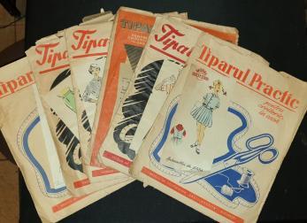 TIPARUL PRACTIC , 6 PLICURI ,  MODELE PENTRU CROITORIE IN CASA, 1961
